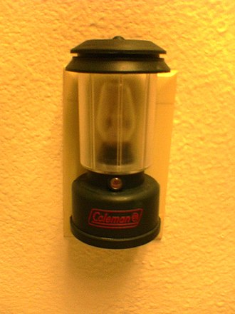 Nightlight - An incandescent nightlight in the style of a Coleman lantern