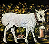 Niko Pirosmani. ''God's Lamb''. Oil on oil-cloth, 55x61 cm. The State Museum of Fine Arts of Georgia, Tbilisi.jpg
