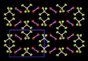 Nitronium tetrafluoroborate - Image: Nitronium tetrafluoroborate xtal CM 3D ellipsoids A
