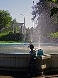 Nizhny Novgorod. Waterplayer near foutain in Sormovo Park.jpg