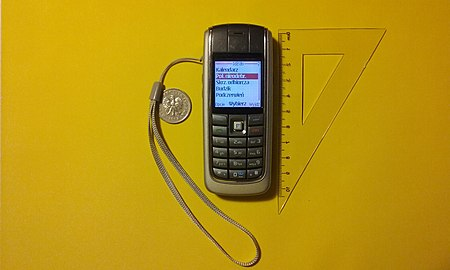 Nokia 6020 z menu w języku polskim, w skali porównawczej. Grudzień 2018 roku.jpg