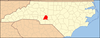 Stanly County map
