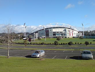 New Zealand Knights FC - The stadium from the south-east.