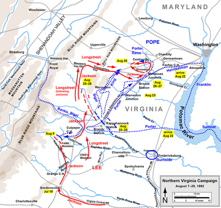 Northern Virginia Campaign, August 7-28, 1862 Northern Virginia Campaign Aug7-28.png