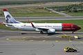Norwegian (Asta Nielsen livery), LN-NIE, Boeing 737-8JP (16454875071).jpg