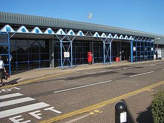 International airport in Norwich, Norfolk, England