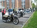 Nostalgia inducing motorbikes awaiting the start of the 2009 Havant Mayor's Rally (6) - geograph.org.uk - 1259912.jpg