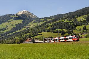Salzburg-Tyrol Railway - Bombardier Talent railcar near Brixen im Thale