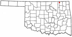 Wann, Oklahoma - Image: OK Map doton Wann
