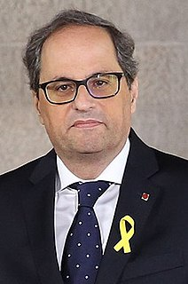 Quim Torra Catalan politician, lawyer and editor, president of Catalonia