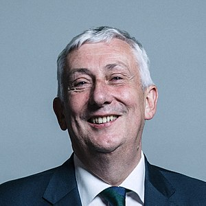 Speaker of the House of Commons (United Kingdom) - Image: Official portrait of Mr Lindsay Hoyle crop 3