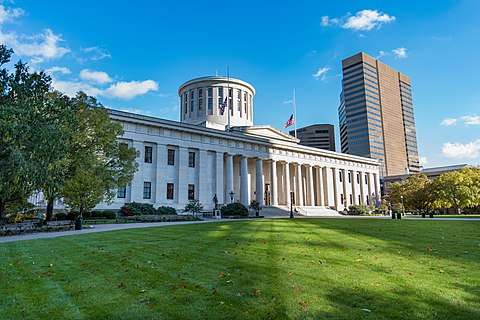 The Ohio Statehouse, home to the Ohio General Assembly Ohio Statehouse 03.jpg