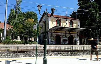 Agios Stefanos railway station - Image: Oion