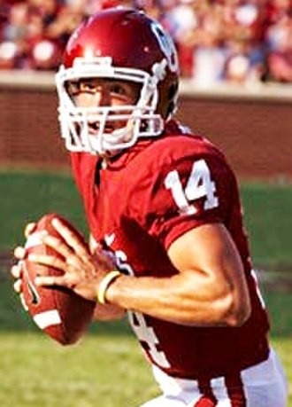 Sam Bradford - Sam Bradford during the 2008 NCAA season.