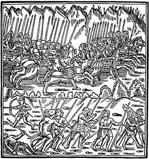 Arngrim - Arngrim and his men attacking king Thengil's army.