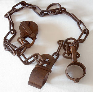 Old metal handcuffs