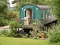 Old railway carriage guest quarters, Strathivie - geograph.org.uk - 601020.jpg