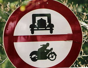 Old traffic sign