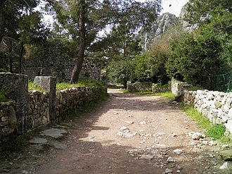 Olympos (Lycia) - A street of the ancient city