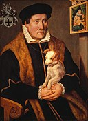 Onbekend - Portret van een man met een hond - NK2828 - Cultural Heritage Agency of the Netherlands Art Collection.jpg