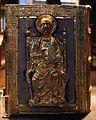 Orafo renano, lectionarium con coperta in argento, col vescovo federico vanga e san paolo in trono, 1207-1218, dal duomo di trento 01.jpg