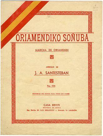 Marcha de Oriamendi - Oriamendiko Soñuba.