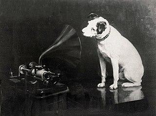 Nipper dog mascot of HMV, RCA, and the Victor Talking Machine Company