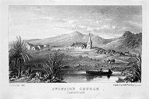 Holy Trinity Avonside - The original Avonside Church in ca 1857