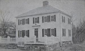 Phillips Exeter Academy - First Academy Building c. 1910, where the school opened in 1783