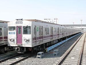 Tanimachi Line - Image: Osaka subway 30 series 3060 20060310