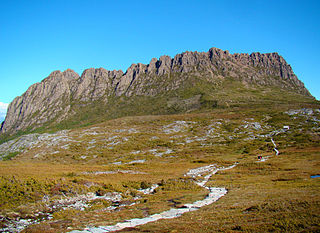 Overland Track hiking trail in Cradle Mountain-Lake St Clair National Park, Tasmania, Australia