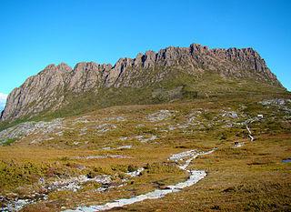 Overland Track hiking trail in Cradle Mountain-Lake St Clair National Park, Tasmania, Australia