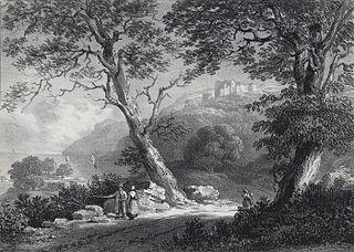 Oxwich castle, Oxwich bay, Glamorganshire