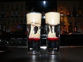 Shooter (drink) - A Brain Hemorrhage layered shooter.