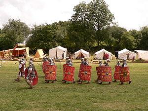 Legio VIII Augusta devant son camp
