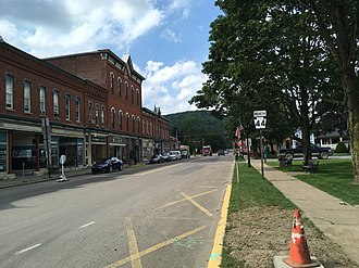 Pennsylvania Route 44 - PA 44 northbound past US 6 in Coudersport