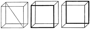 Optical illusion with cubes