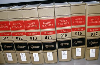 Law report - The Pacific Reporter, a part of West's National Reporter System