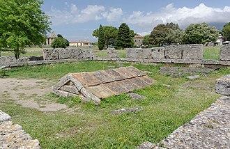 Heroon - Heroon at Paestum, uncovered in 1952