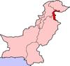 Map of Pakistan with Azad Jammu and Kashmir (AJK) highlighted.