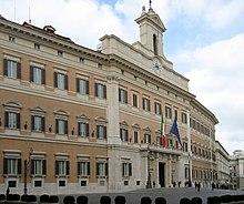 Palazzo Montecitorio, già Palazzo Ludovisi, realizzato dal Bernini su commissione di Innocenzo X