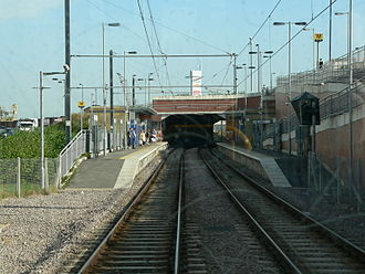 Sunderland - Pallion Metro station on the Tyne and Wear Metro is a small suburban station in Sunderland.