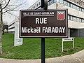 Panneau de la rue Mickaël Faraday (Saint-Herblain).jpg