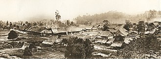 British Malaya - Kuala Lumpur circa 1884. Founded in 1859, the mining settlement would grow to succeed Klang town as the capital of Selangor in 1880, and would later be designated as the capitals of the Federated Malay States, the Federation of Malaya and Malaysia.