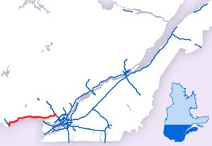 Quebec Autoroute 50 - Image: Parcours Autoroute 50
