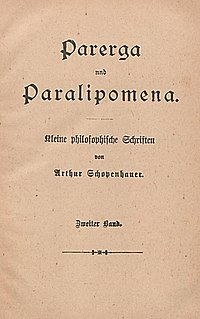 Parerga and Paralipomena cover