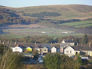 Cwmgors village in Wales