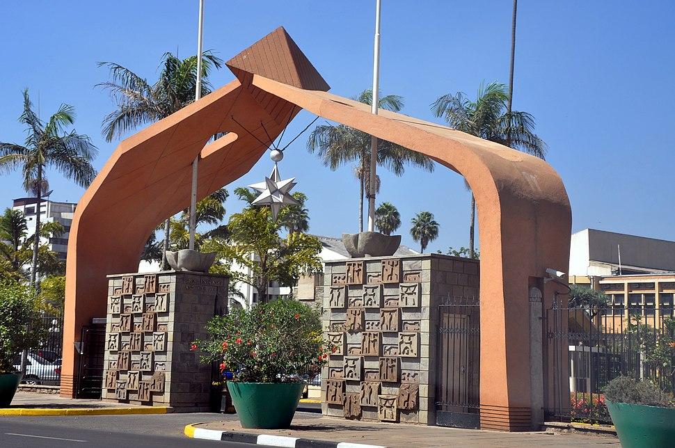 Parliament Buildings, Nairobi, Kenya -entrance-15April2010