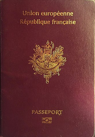 Citizenship of the European Union - French passport
