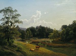 "Paul Weber (artist) - ""Pastoral Landscape in Summer"", 1857"